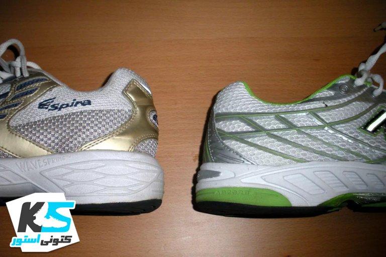 تفاوت در ضخامت پاشنه در کفش های دویدن و پیاده روی