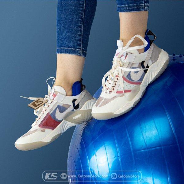 کفش اسپرت و کتونی نایک جردن دلتا اس پی ( سفید آبی قرمز ) - Nike Jordan Delta SP (Sand Blue Red)