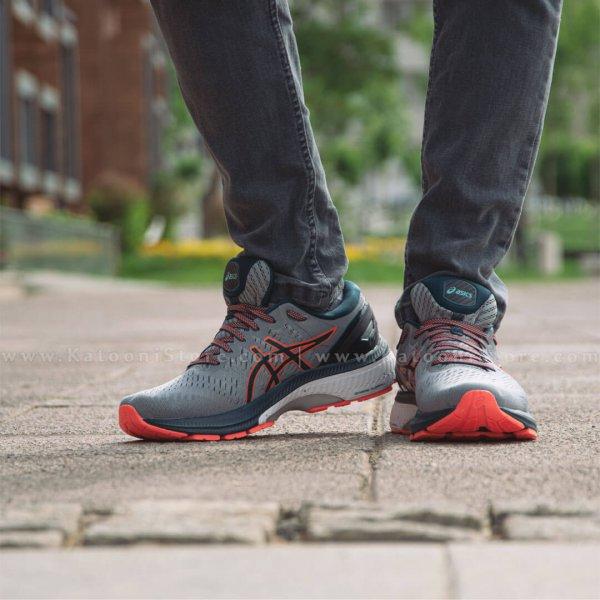 کفش اسپرت و کتونی اسیکس ژل کایانو ۲۷ ( خاکستری نارنجی ) - Asics GEL Kayano 27 ( Grey Orange)