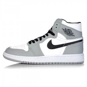 کفش اسپرت نایک ایر جردن 1 مید لایت اسموک گری - Nike Air Jordan 1 Mid Light Smoke Grey