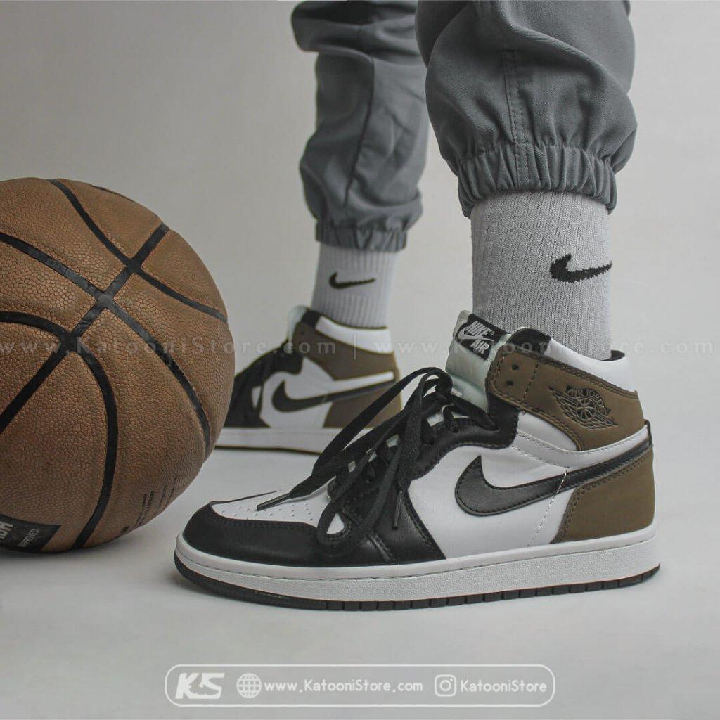 کفش اسپرت نایک ایر جردن 1 رترو های دارک موکا - Nike Air Jordan 1 Retro Hight Dark Mocha