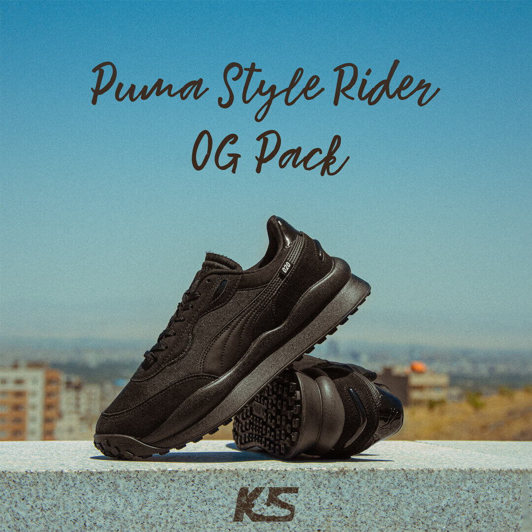 عکس مجله ای زیبا از کتونی پوما استایل رایدر - Puma Style Rider OG Pack Fashion photos